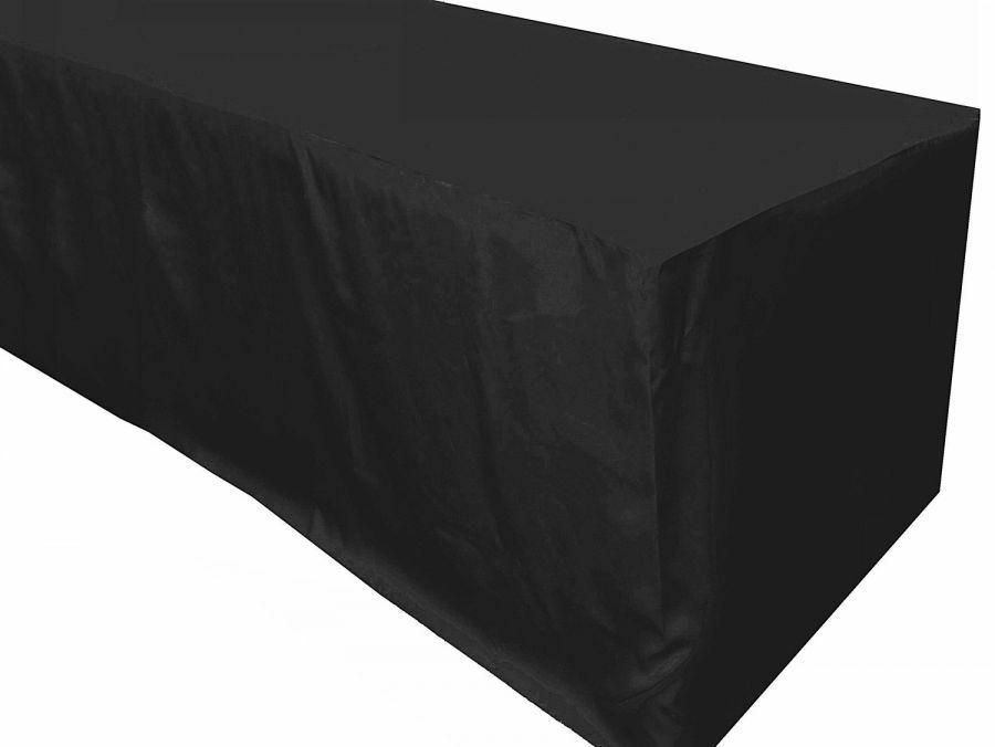 8 39 ft fitted polyester tablecloth table cover wedding banquet event party black ebay. Black Bedroom Furniture Sets. Home Design Ideas