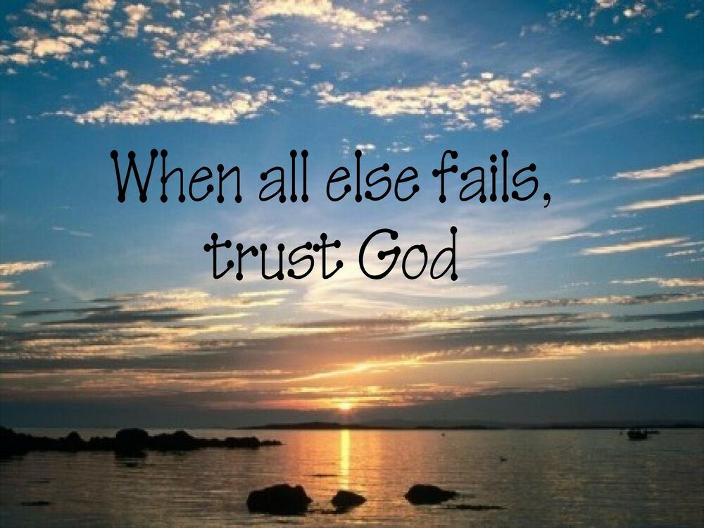 "Wall Sticker ""WHEN ALL ELSE FAILS TRUST GOD"" Quote Vinyl"