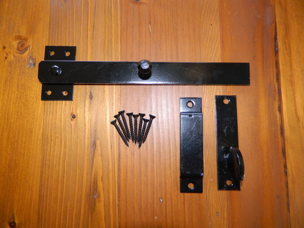 Drop Latch With Keep Amp Catch Finished In Black For Gates