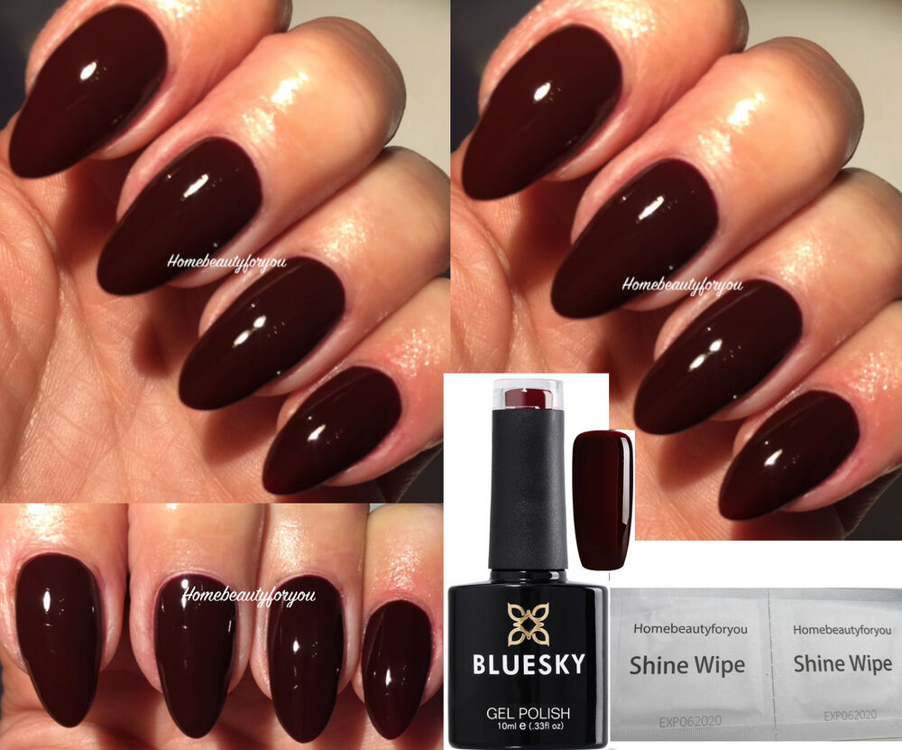 BLUESKY A39 OX BLOOD RED BURGUNDY MAROON NAIL GEL POLISH LED UV SOAK ...