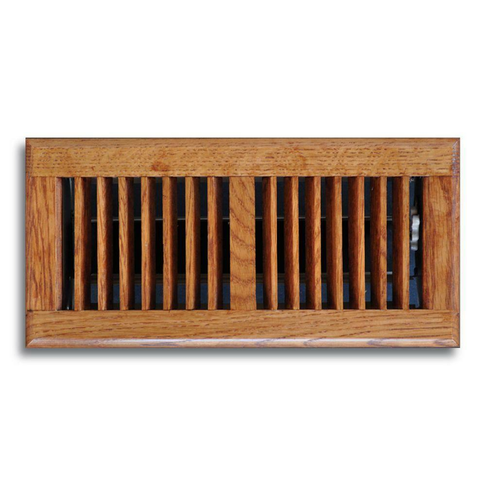 new 6 x 12 oak wood floor diffuser grille register vent