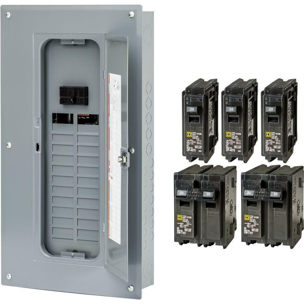 a main breaker panel wiring new square-d 100-amp 24-space 48-circuit indoor main ...