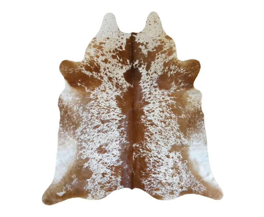 New Cowhide Rug Leather Cowskin Salt And Pepper Brown