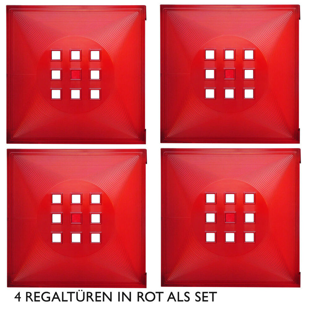 4er set t r einsatz ikea regal expedit kallax norn s facheinsatz mit w rfel rot ebay. Black Bedroom Furniture Sets. Home Design Ideas