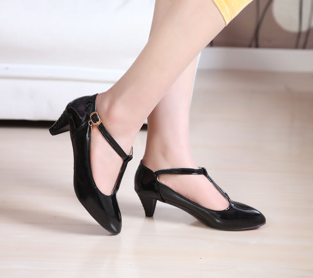 Mid Block Heel Shoes Pointed
