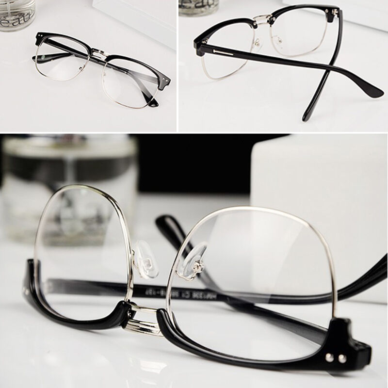 Half Frame Vintage Glasses : New Vintage Retro Half Frame Clear Lens Glasses Nerd Geek ...