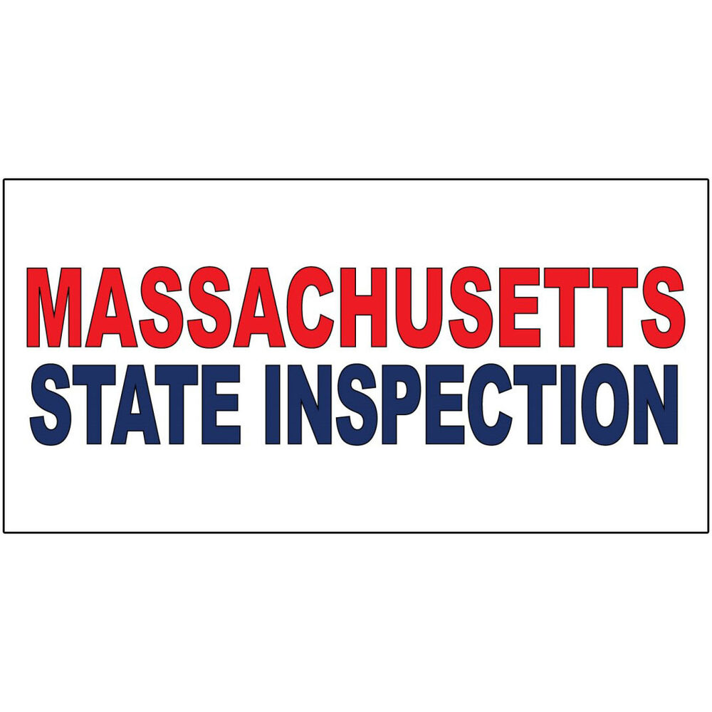 Massachusetts State Inspection Red Blue Decal Sticker