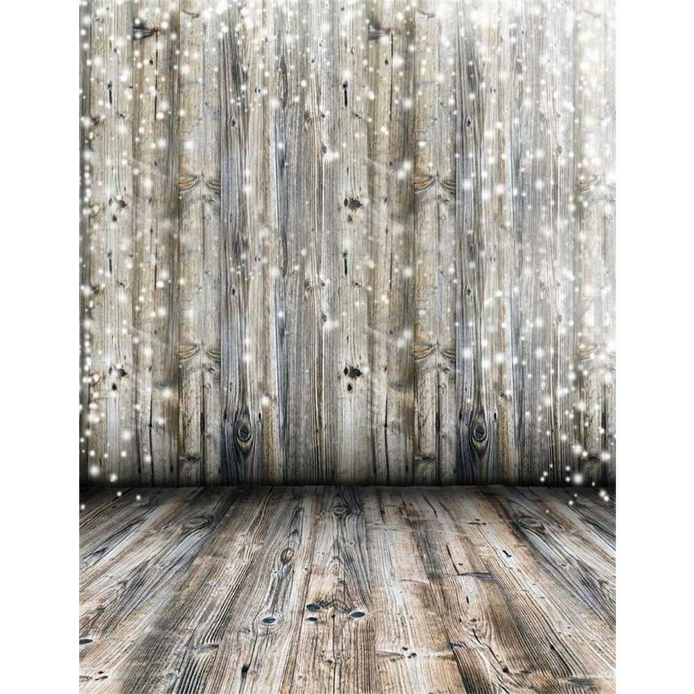 3x5Ft Photography Background Dreamy Grey Wooden Wall Floor