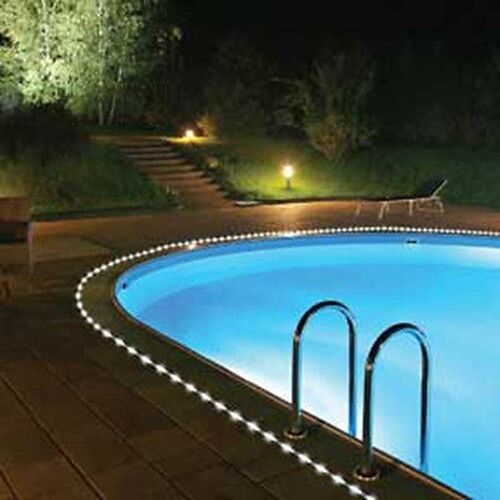 Swimming Pool Sidewalks : Solar powered power led rope light great for swimming pool