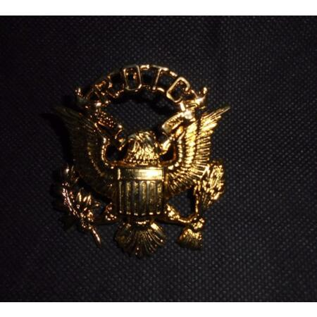 img-Genuine US United States Army Reserve Officers Training Corps ROTC Cap Badge