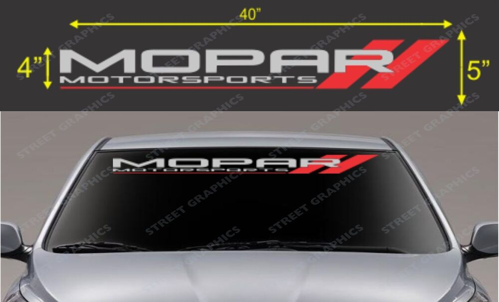 Car Brake Parts >> Mopar Motorsport Windshield Vinyl Decal Sticker | eBay