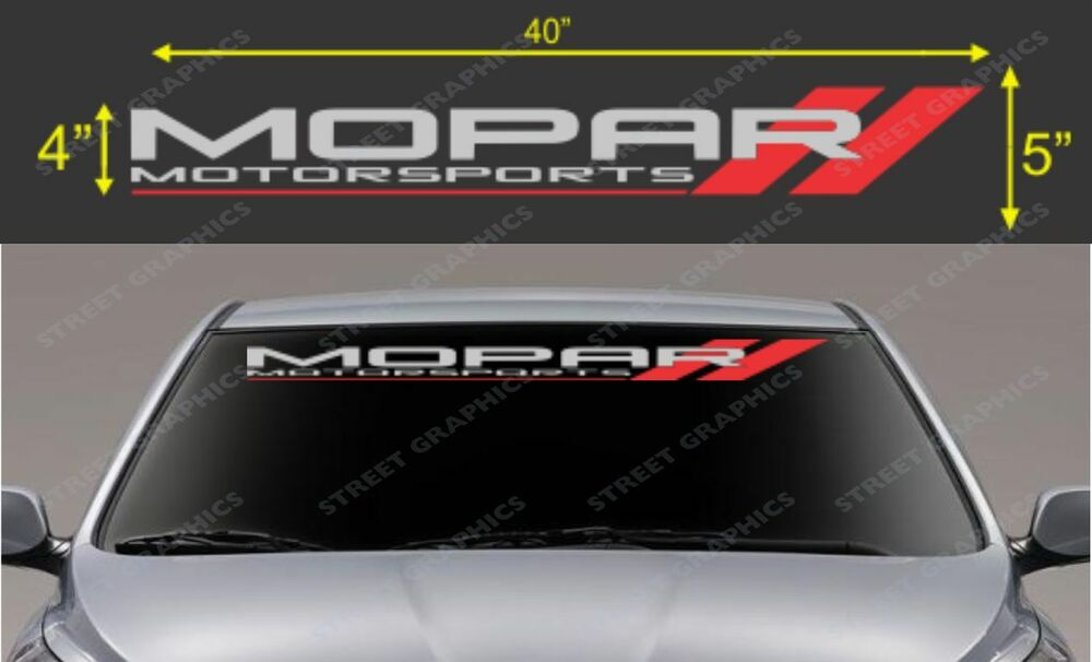 Mopar Motorsport Windshield Vinyl Decal Sticker Ebay