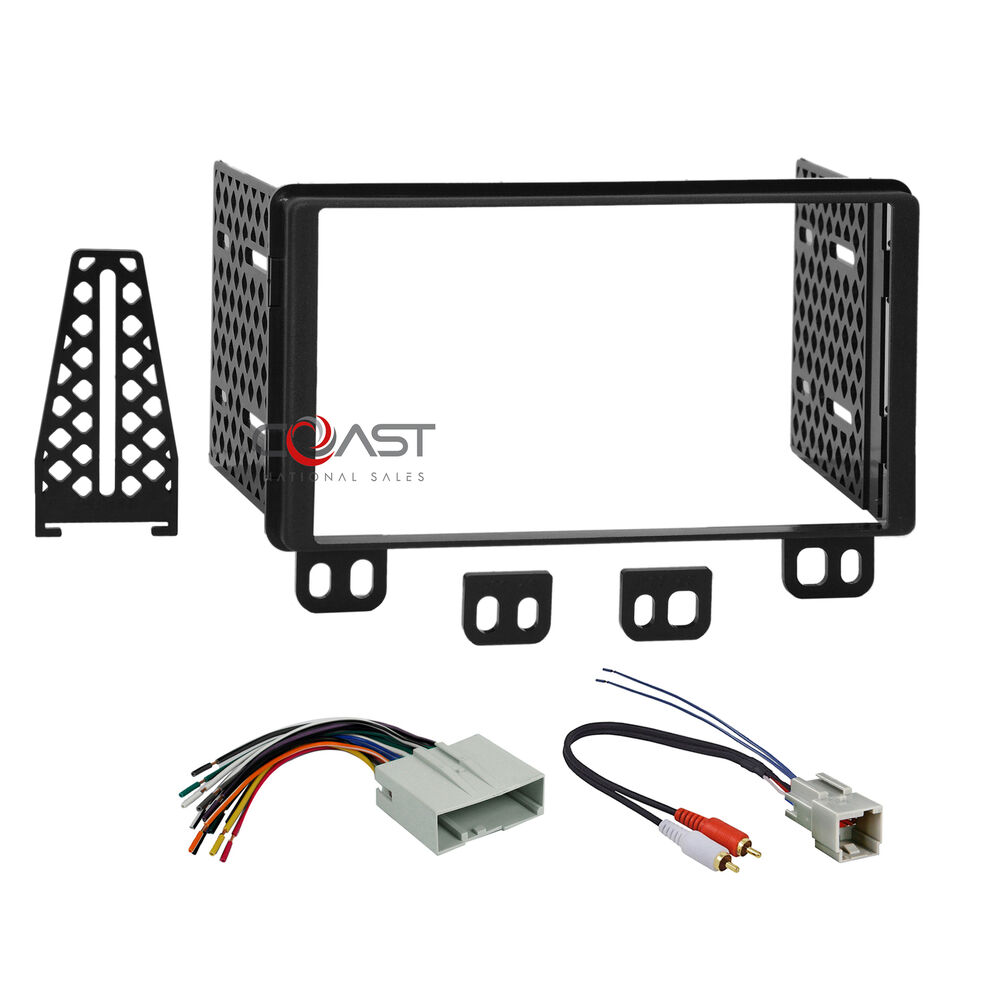 double din radio stereo dash kit wire harness for 2001