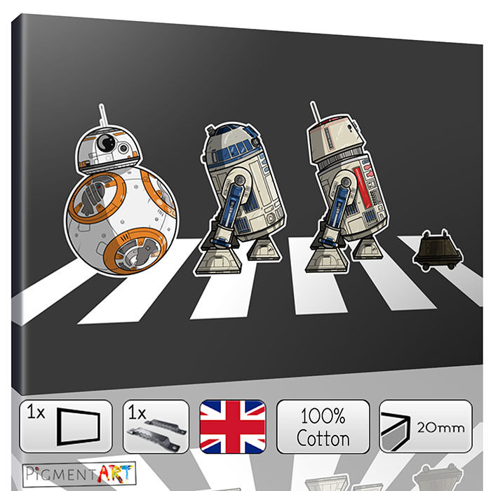 Large r2 d2 amp bb8 star wars the force awakens canvas wall art prints pictures ebay