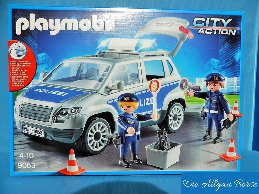 playmobil 9053 polizeiauto van sonderedition police city. Black Bedroom Furniture Sets. Home Design Ideas
