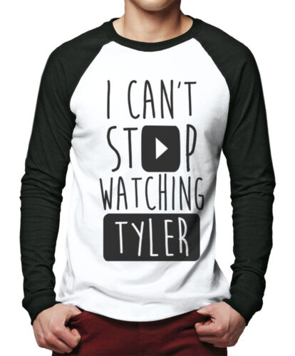 I Can't Stop Watching Tyler - Vlogger Star Youtubers Men Baseball Top