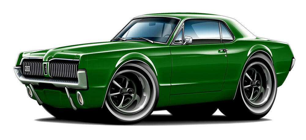 1967 Mercury Cougar Muscle Car Art Print New Ebay