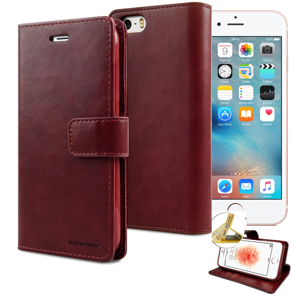 iphone wallet case goospery book durable flip leather wallet cover 12460