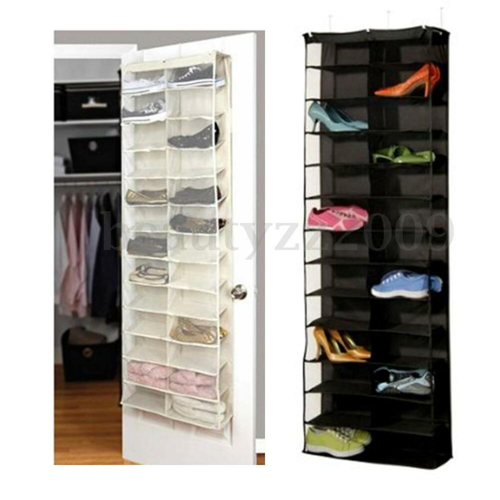 26 Pair Over Door Hanging Display Shoe Shelf Rack Storage