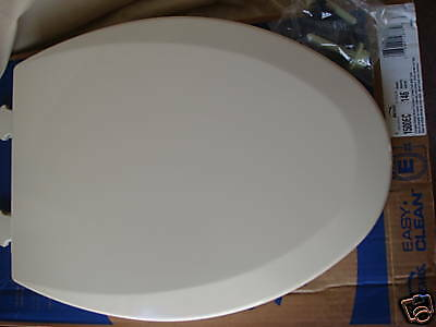 Bemis Almond Toilet Seat 1500 Elongated Wood Kohler Ebay