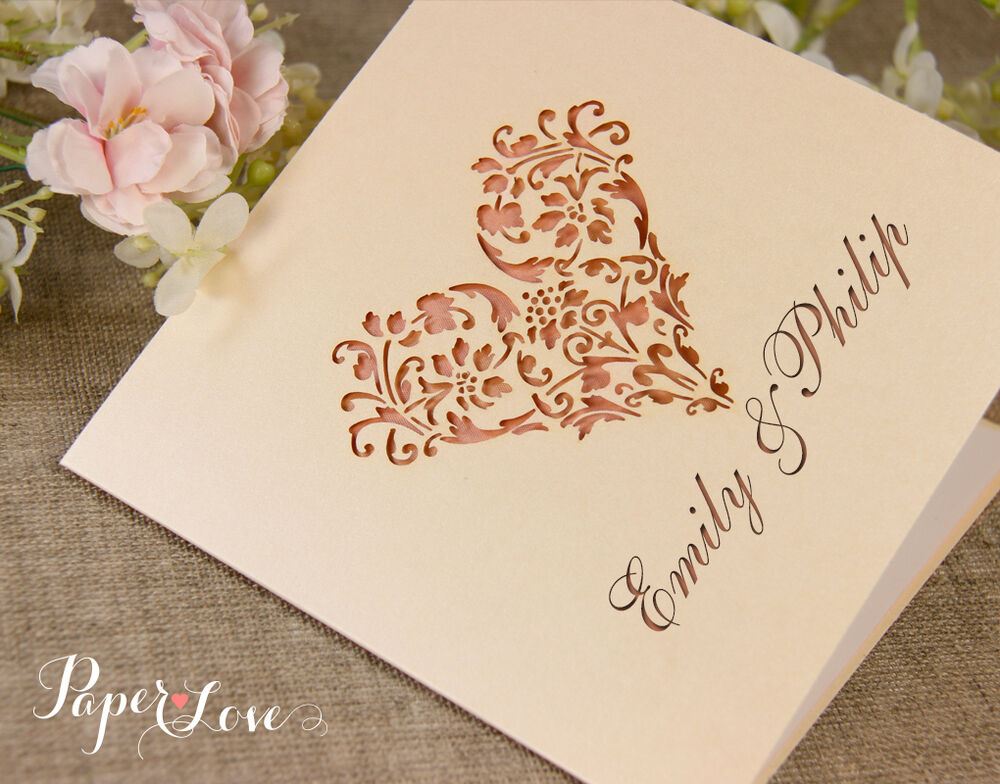 Heart Images For Wedding Invitations: Super Personalised Laser Cut Wedding Invitation Heart
