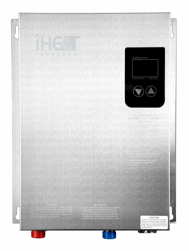 Iheat ahs 14d electric tankless water heater whole house for Whole house electric heat