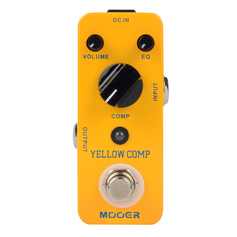 mooer yellow comp compressor sound guitar effect pedal true bypass ebay. Black Bedroom Furniture Sets. Home Design Ideas