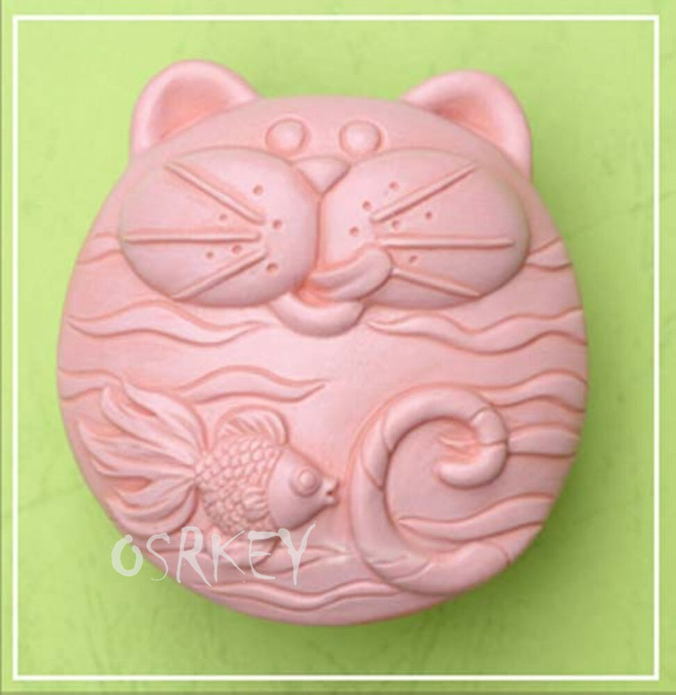 Cat like fish s066 silicone soap mold craft molds diy for Silicone fish molds
