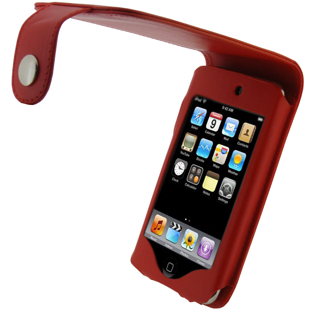 red pu leather case for apple ipod touch 2nd 3rd gen 2g 3g. Black Bedroom Furniture Sets. Home Design Ideas
