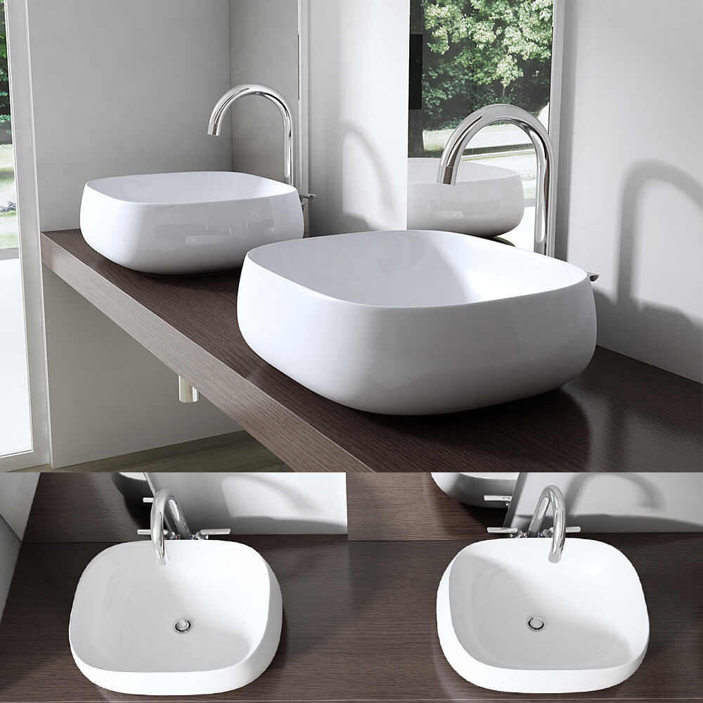 Bathroom Ceramic Counter Top Basin Sink Wash Bowl Design W