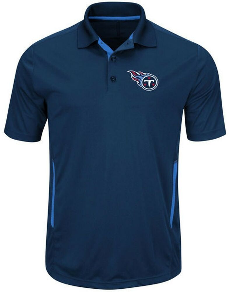 Tennessee Titans Mens Moist Management Performance Polo