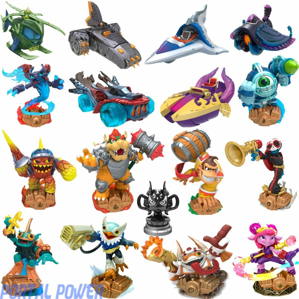 skylanders superchargers figures vehicles trophy