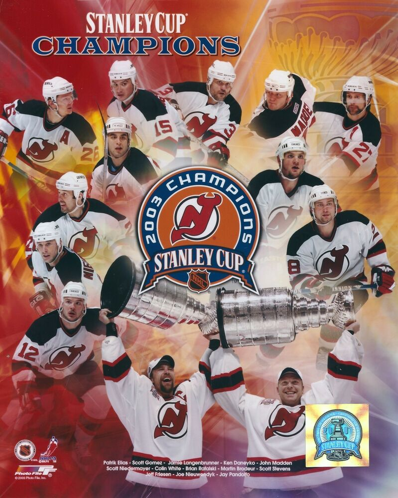 2003 NHL Hockey New Jersey Devils Team Collage Stanley Cup Champion Photo  f844adf57