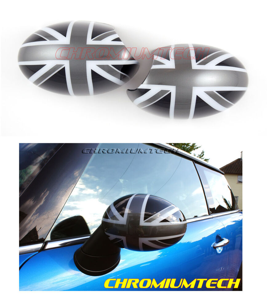 black union jack mirror cap covers for mk1 bmw mini cooper. Black Bedroom Furniture Sets. Home Design Ideas