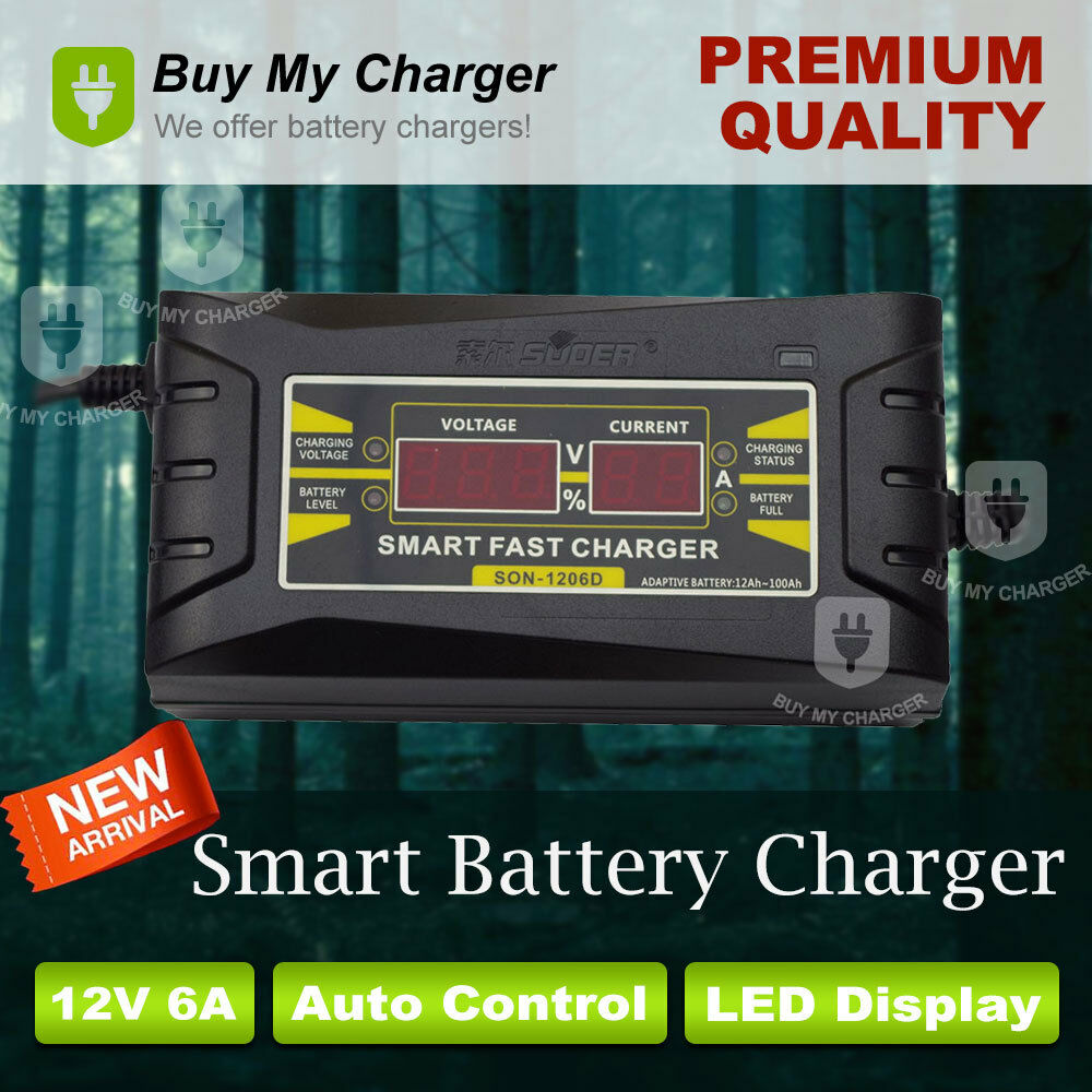 Souer Genuine 12V 6A Smart Car Motorcycle Battery Charger
