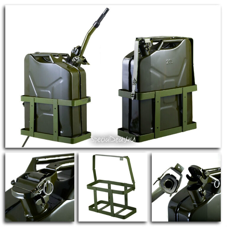 jerry can 5 gallon 20l gas fuel army nato military metal. Black Bedroom Furniture Sets. Home Design Ideas