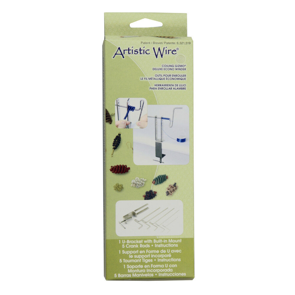 Beadsmith Artistic Wire Coiling Gizmo Deluxe-5 Rods Built-In Mount ...