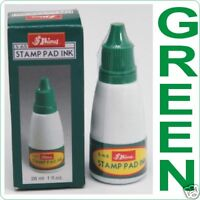Ink GREEN for Stamp pad reinker refill ink pad inkpad Shiny 28ml