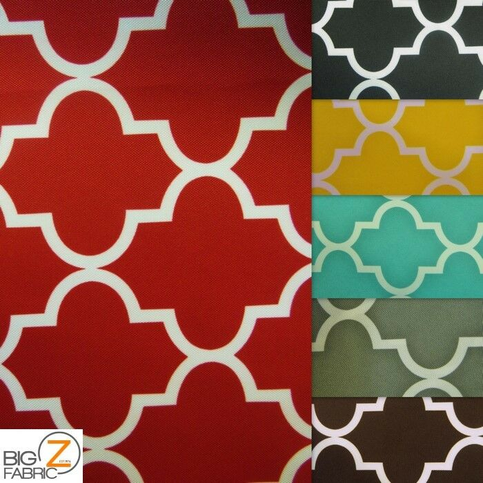moroccan quatrefoil canvas outdoor waterproof fabric by the yard upholstery ebay. Black Bedroom Furniture Sets. Home Design Ideas