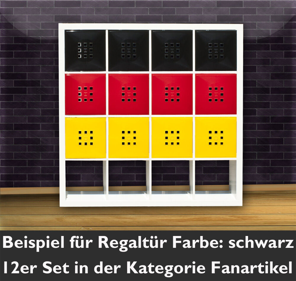 1t r w rfel regal flexi ikea expedit kallax erg nzung einsatz mit lekman schwarz ebay. Black Bedroom Furniture Sets. Home Design Ideas