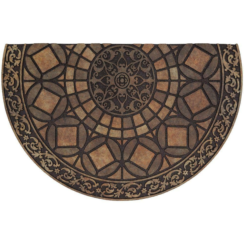 Home Depot Foyer Rugs : Door mat rubber doormat gothic iron brown in