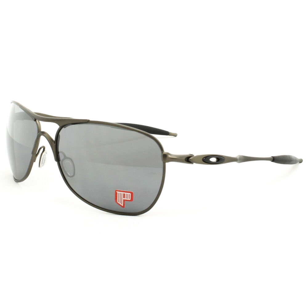 cb38a2ae6e Oakley Titanium Crosshair Sunglasses OO6014-02 Pewter   Black Iridium  Polarized