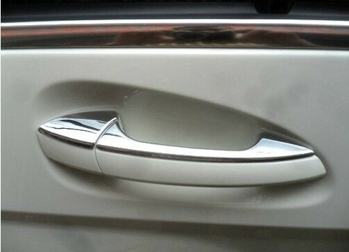 Chrome door handle cover trims mercedes benz ml w166 ml350 for Mercedes benz chrome accessories
