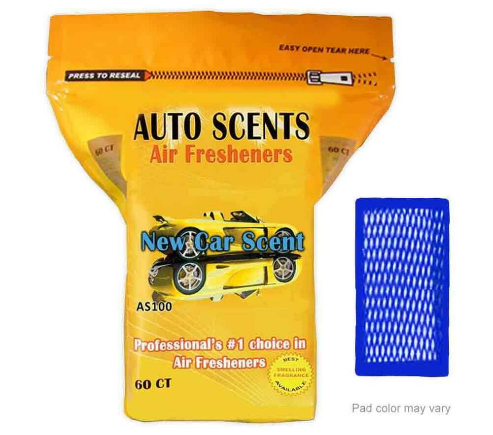 air freshener pads car auto scents in resealable bag 60 pack ebay. Black Bedroom Furniture Sets. Home Design Ideas