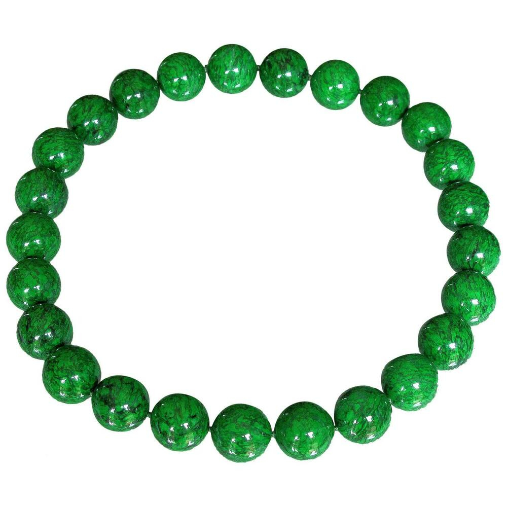 Necklace Beads: Natural Maw-Sit-Sit Jade Bead Necklace