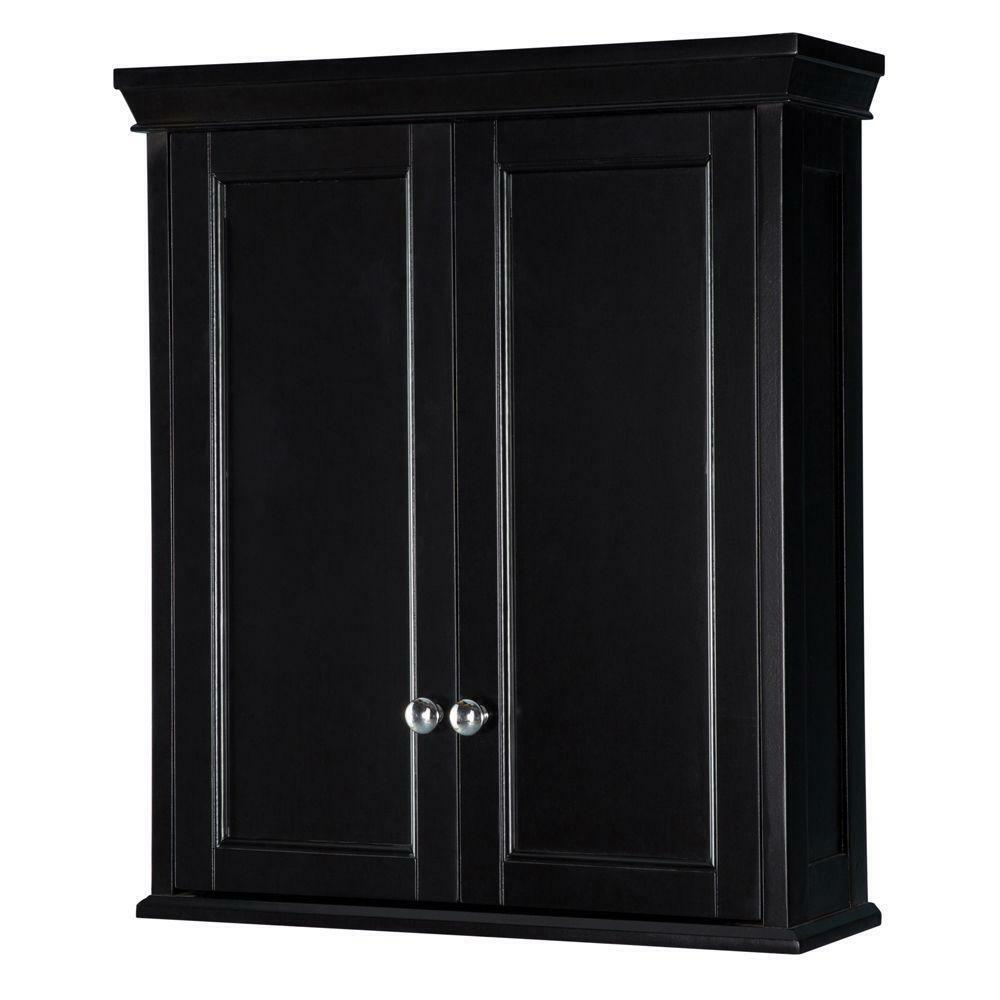 Bathroom wall cabinet espresso medicine shelf vanity for In wall bathroom storage