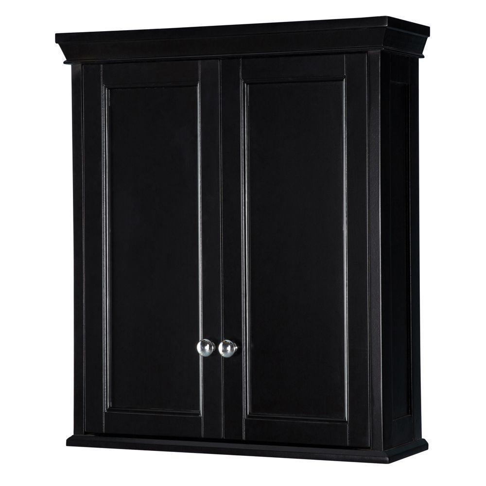Bathroom wall cabinet espresso medicine shelf vanity - Wall mounted bathroom storage units ...