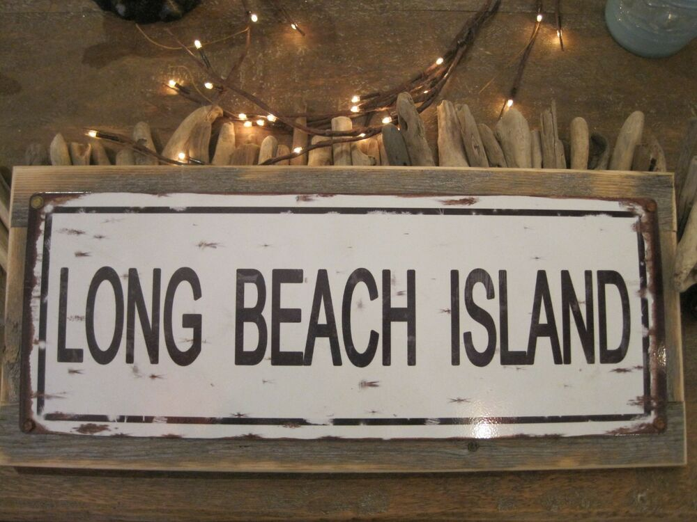 Long beach island sign custom wooden sign beach for I sign decoration