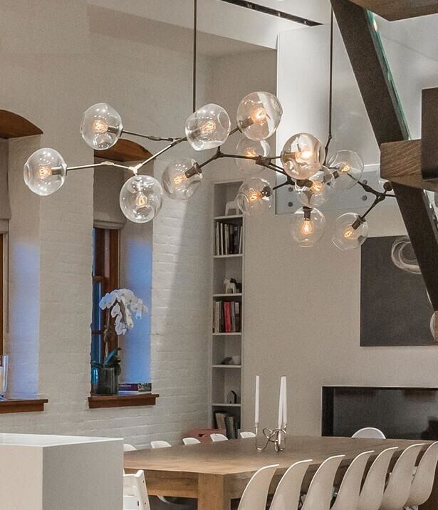 Lighting Lamp: Modern Molecule Lights Molecular Glass Pendant Light