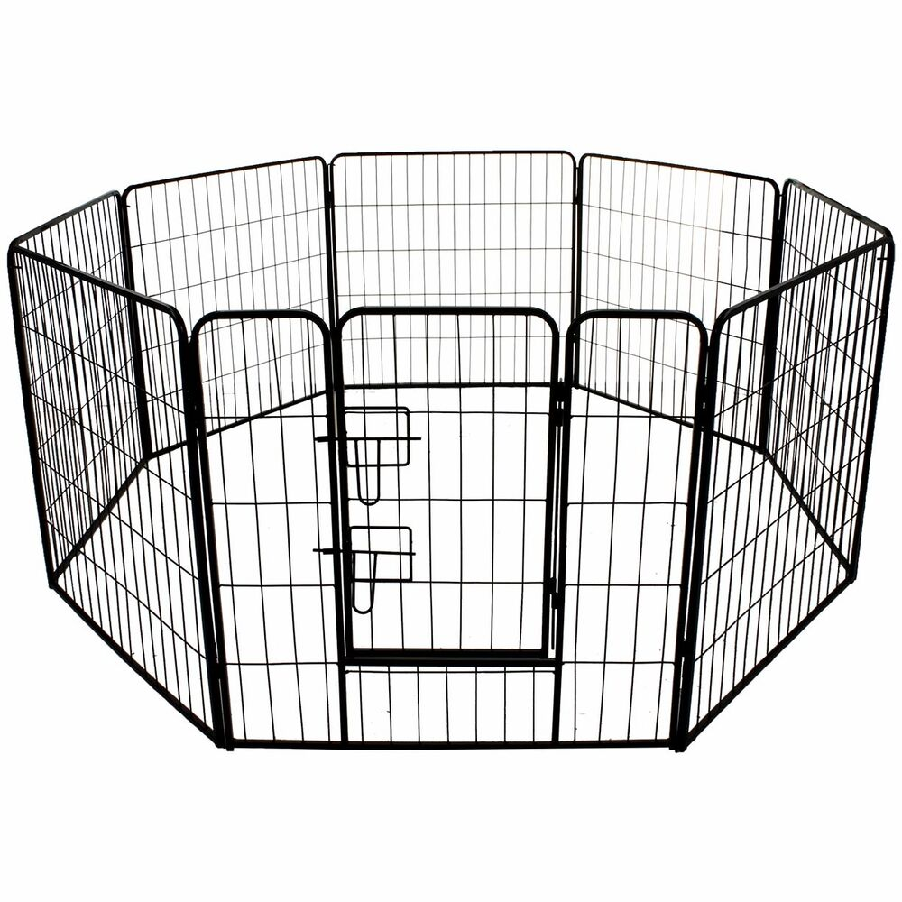 Large pet play pen heavy duty pet cage crate run dog puppy for Huge dog pen